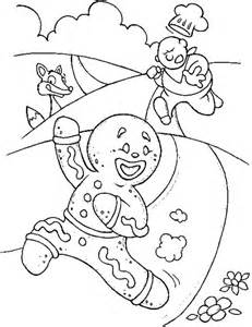 gingerbread men runaway fro chef coloring page coloring sun
