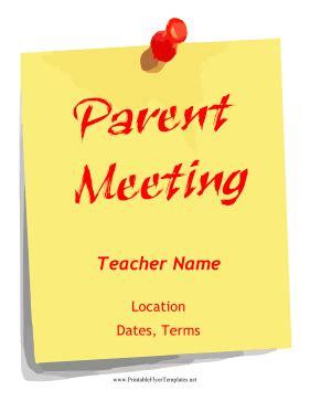 parent flyer templates parent meeting flyer