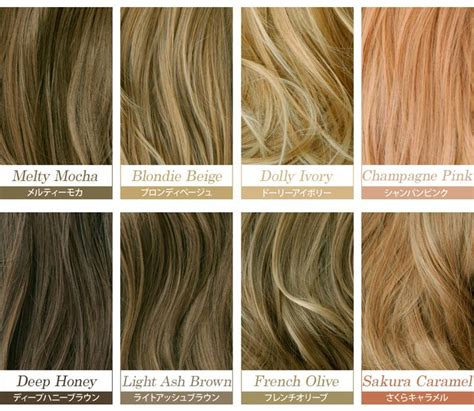 different shades of hair color chart best 25 hair color names ideas on color names