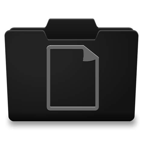 black file black grey documents icon classy folder icons