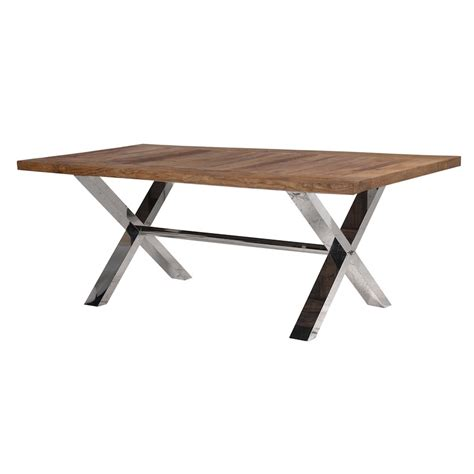 industrial dining tables richmond industrial chic dining table