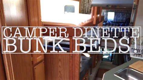 truck camper dinette bunk rv bunk youtube