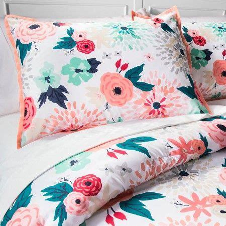 coral bedding target multi floral printed comforter set multicolor xhilaration target room ideas