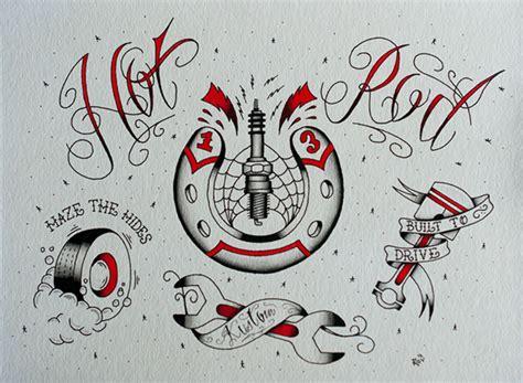tattoo designs hot rod hot rod tattoo flash on behance