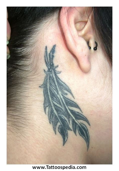 feather tattoo neck meaning tony baxter