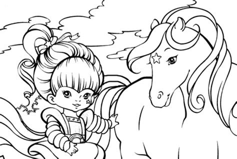 rainbow brite coloring pages kids pinterest