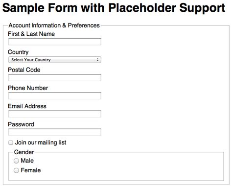 html input pattern browser support html5 input placeholder browser support image search results