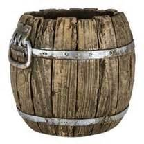 the shop brown polystone barrel pot shop hobby lobby