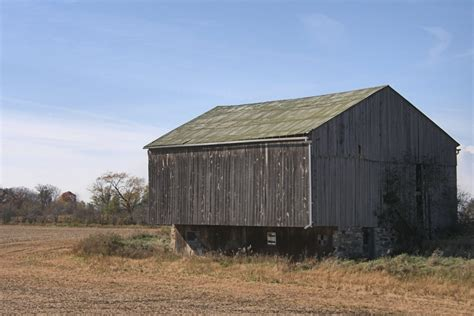 Bank Barn panoramio photo of bank barn after the harvest