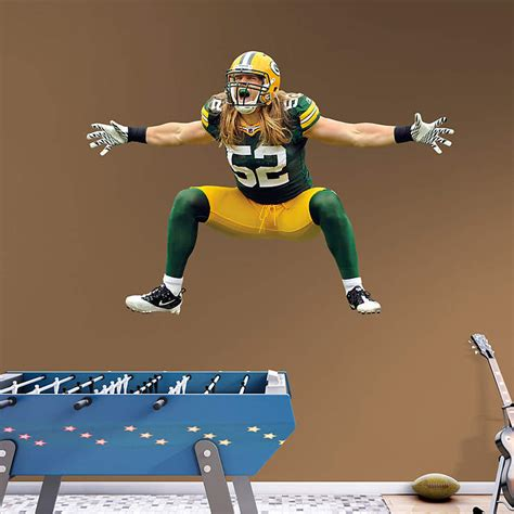 Fathead Gift Card - life size clay matthews sack celebration wall decal shop fathead 174 for green bay