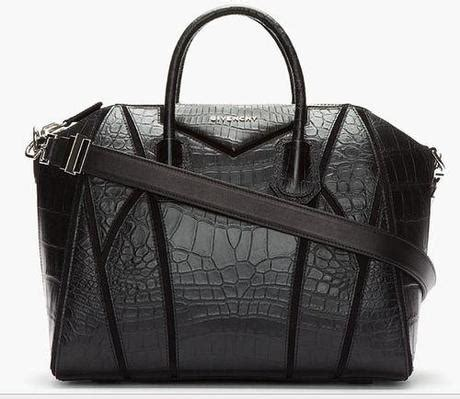 Givenchy Antigona Croco 1081 L givenchy black antigona croc embossed patchwork bag