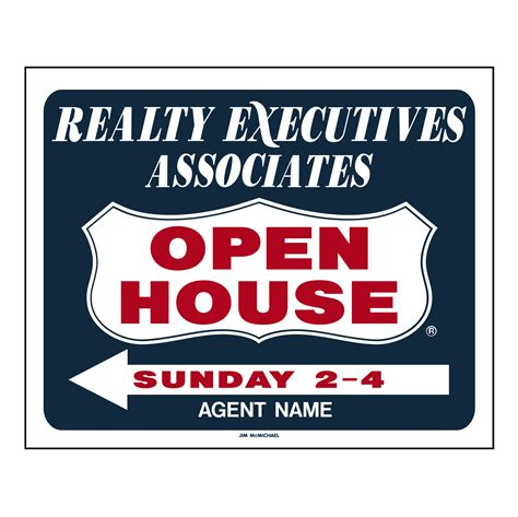 Blue House Realty by Blue Open House Sleeve W S Name Jim Mcmichael