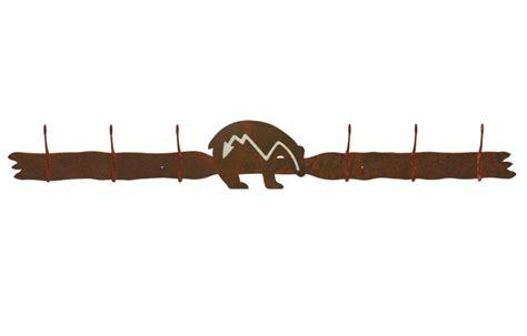 Metal Wall Coat Rack by Burnished Six Hook Metal Wall Coat Rack