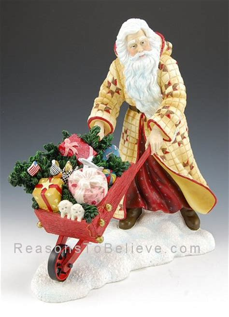 country santa claus santa claus figurines and hand