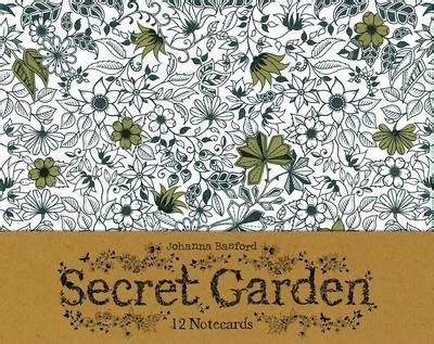 secret garden coloring book book depository secret garden 12 notecards johanna basford 9781856699471