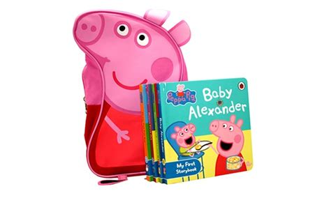 Peppa Pig Peppa Duper peppa pig bag and books groupon