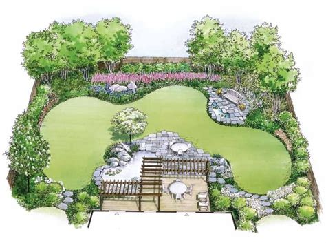 How To Design A Flower Garden Layout Hwbdo11010 Landscape Plan From Builderhouseplans