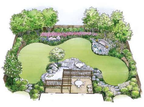 Hwbdo11010 Landscape Plan From Builderhouseplans Com Flower Garden Layout Plans