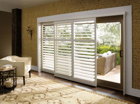 Plantation Shutters Classic Elegance Meets Contemporary Bypass Shutters For Patio Doors