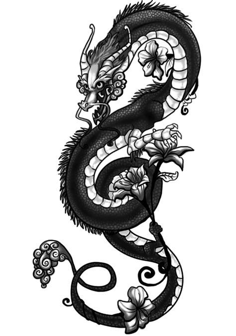 tattoo dragon and flower flower dragon tattoo tattoo gallery designs