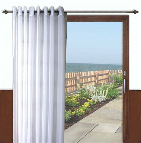 patio door curtains grommet top interior pole pocket top patio door drapes in bright