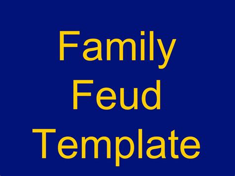 Family Feud Powerpoint Template Template Free Download Family Feud Template Free