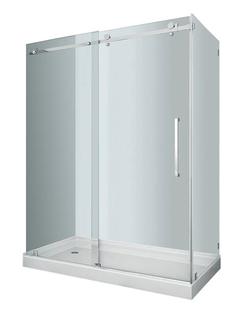 Shower Enclosure With Base Moselle Completely Frameless Sliding Shower Door Enclosure