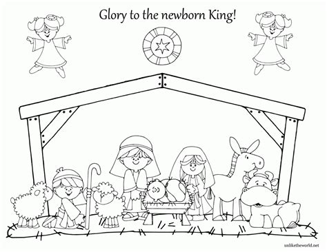 nativity coloring page pdf shape color nativity coloring pages for kids widetheme