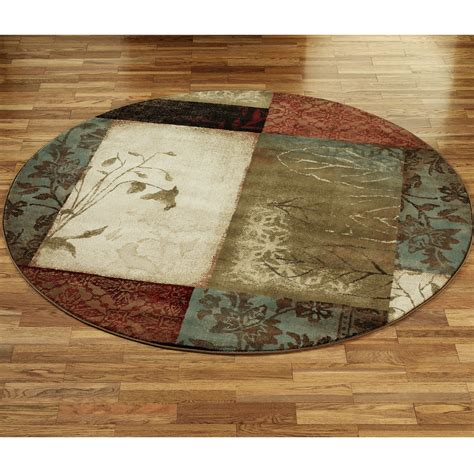 Floors Rugs Impression Leaf Round Area Rugs For Floor Rugs