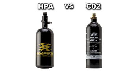 Kaos C02 high pressure air hpa vs c02 defcon paintball gear