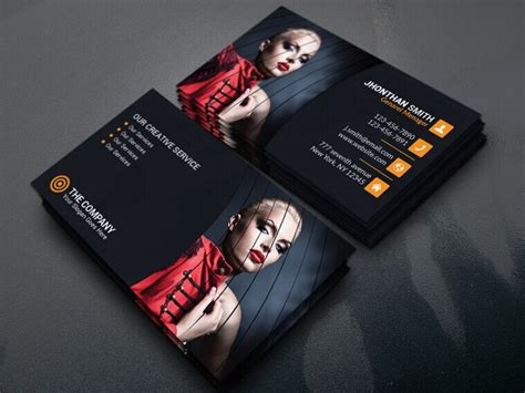 portrait business card template 100 best business card mock ups for free 365