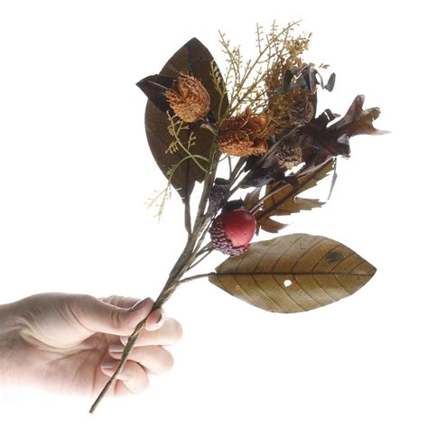 fall artificial acorn and dried flower pick picks and