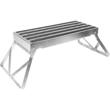 Metal Step Stool by Camco Metal Bi Fold Step Stool With Non Skid