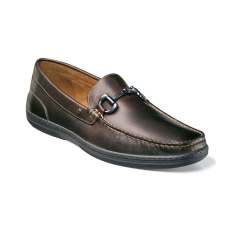 loafers club florsheim lounge bit slip on loafers in brown for lyst