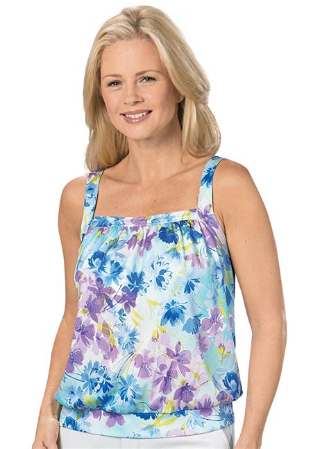 Floral Tank Top floral tank top with built in bra carolwrightgifts