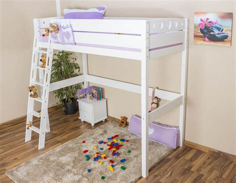 Childs High Sleeper Bed by High Sleeper Bed Children S Bed Niklas Solid Beech Wood White Painted Incl Slatted Frame