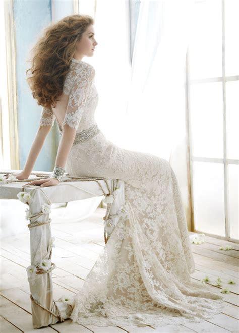 lace  wedding dresses part  belle  magazine