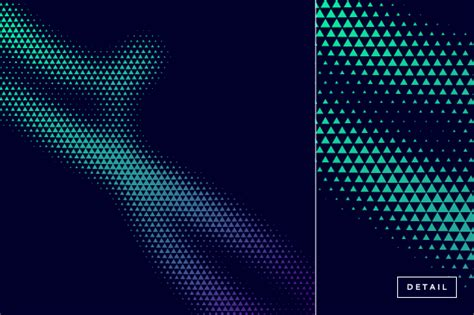 triangle halftone pattern triangle halftone pattern design illustrations on