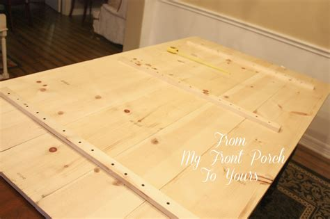 diy desk top wood from my front porch to yours diy wood plank table top reveal