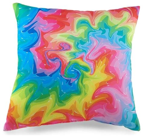 colorful couch pillows colorful swirl photo printed throw pillow eclectic