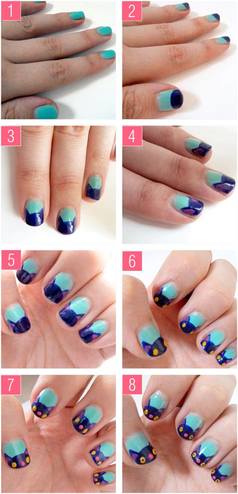 tutorial in nail art pony chops pretty kitty nail art tutorial