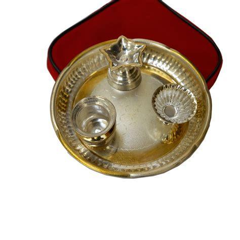 Handcrafted German Silver Pooja Thali Online   BoonToon