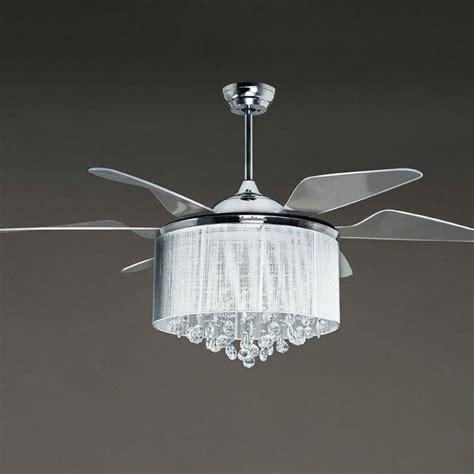 Ceiling Fan Chandelier Combo Modern Crystal Ceiling Fan Light Hupehome
