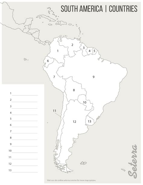 america map quizzes south america countries printables map quiz