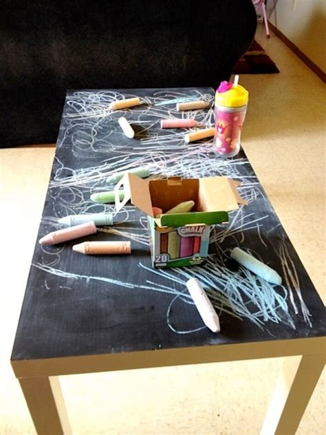 Chalkboard Coffee Table Chalkboard Coffee Table Is Easy Kid Entertainment Homejelly