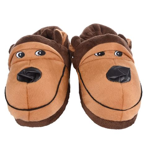 character slippers novelty gift character animal fleece slippers
