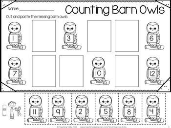 owl printables for kindergarten free owl counting activity kindergartenklub com