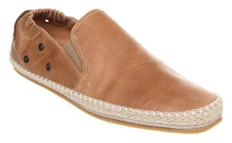 mens poste espadrille leather casual shoes size 6 ebay