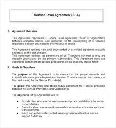 Free Service Agreement Contract Template by Service Level Agreement 9 Free Documents In