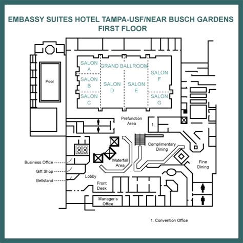 Embassy Suites Floor Plan | first floor floor map